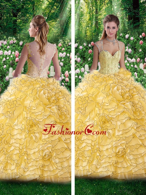 2016 Vintage Straps Beading Quinceanera Dresses for 16 Brithday Party SJQDDT256002FOR