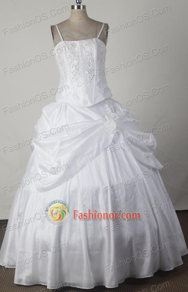 Low Price Ball Gown Straps Floor-length White Vintage Quinceanera ...