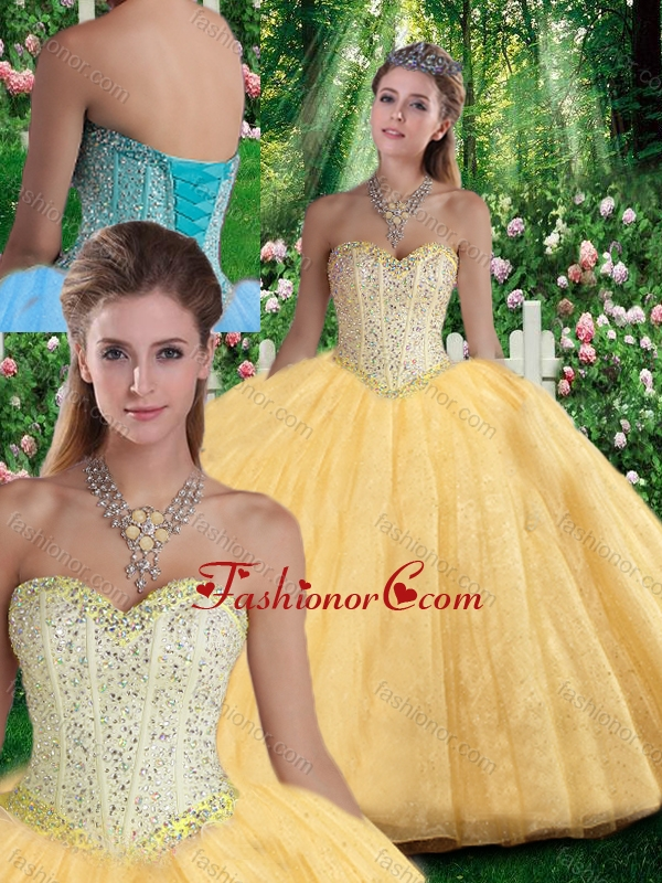 Simple Ball Gown Sweetheart Beading Quinceanera Gowns for Fall SJQDDT295002FOR