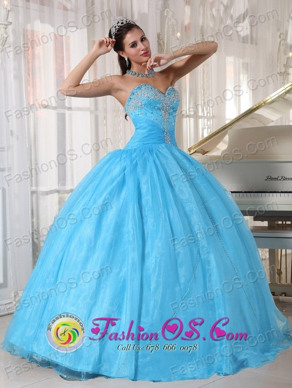 Havana Cuba Custom made Sky Blue Taffeta and Organza Sweetheart ...
