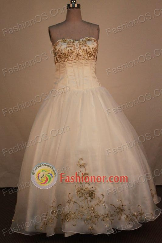 Low price Ball Gown Sweetheart Neck Floor-Length Quinceanera Dresses ...