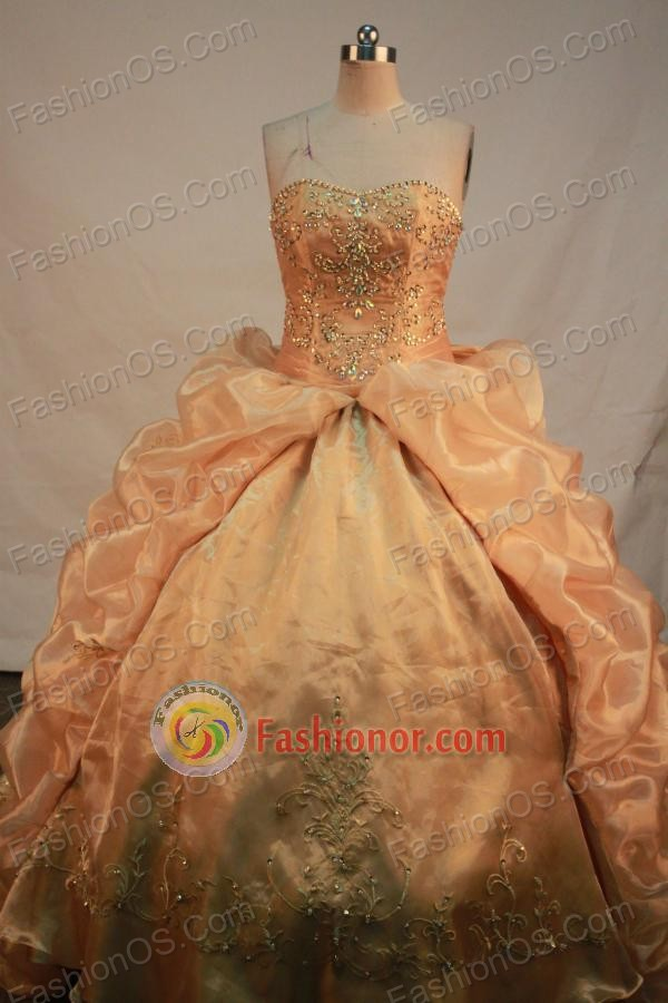 Luxurious Ball gown Sweetheart-neck Floor-length Quinceanera Dresses Style FA-C-107