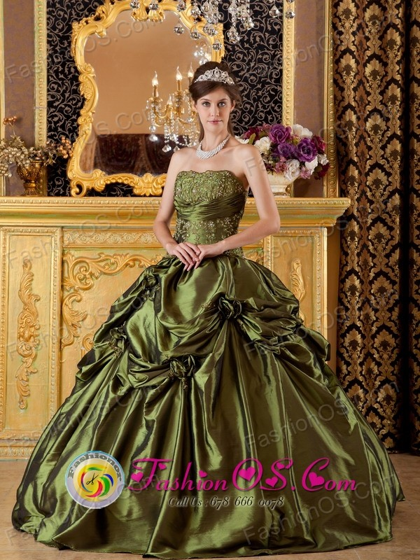 Moa Cuba Brand New Olive Green Sweet sixteen Gown Clearrance With ...