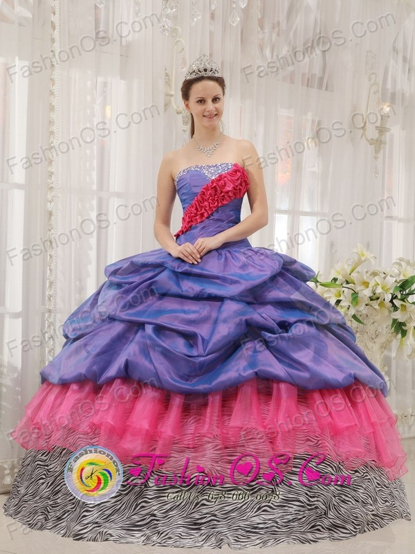 2013 San Pablo Guatemala Colorful Exclusive Quinceanera Dress With ...
