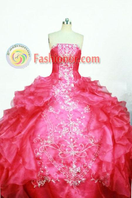 Gorgeous Ball Gown Strapless Floor-length Quinceanera dress Style ...