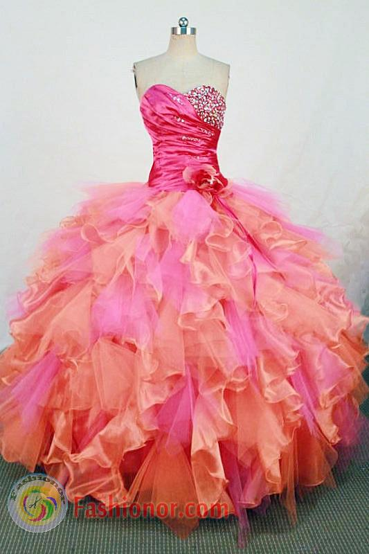 Gorgeous Ball gown Sweetheart neck Floor-Length Quinceanera ...