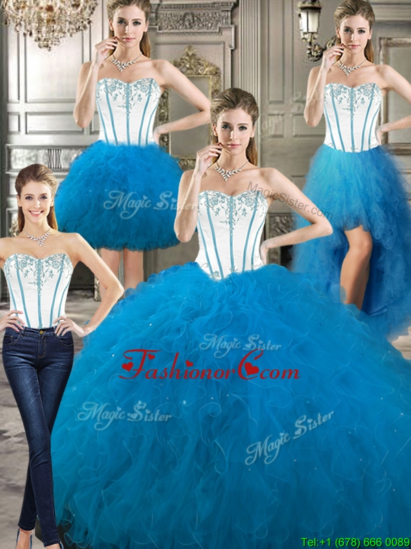 New Style Big Puffy Detachable Quinceanera Dresses with Beading and Ruffles YYPJ024CX004FOR