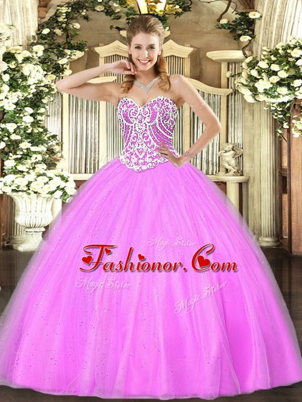 Cute Floor Length Ball Gowns Sleeveless Lilac Vestidos de ...