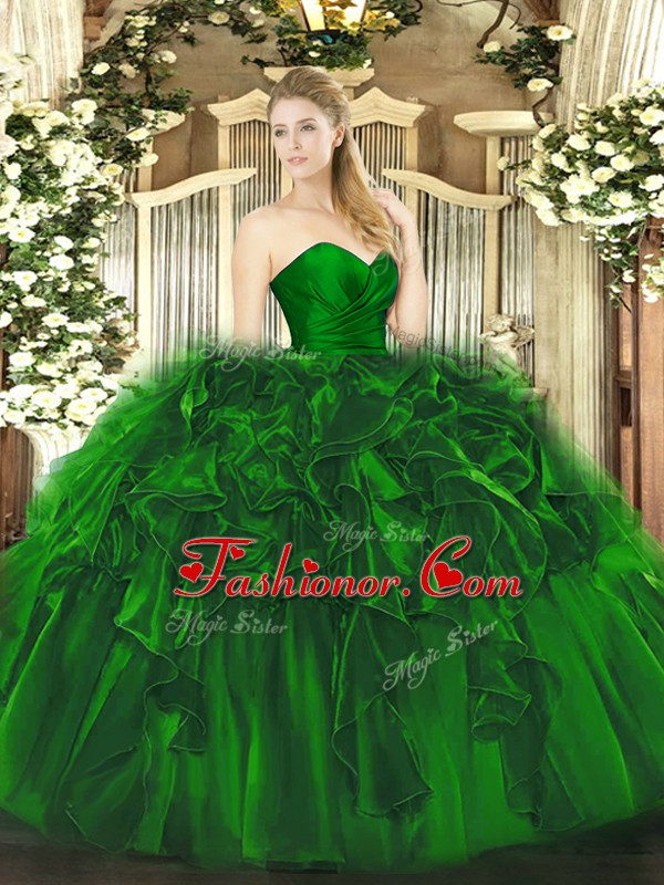 Dark Green Ball Gown Prom Dress Military Ball and Sweet 16 and ...