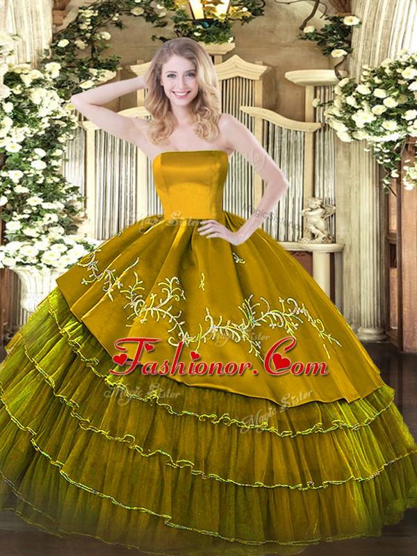 Spectacular Floor Length Zipper Ball Gown Prom Dress Brown for ...