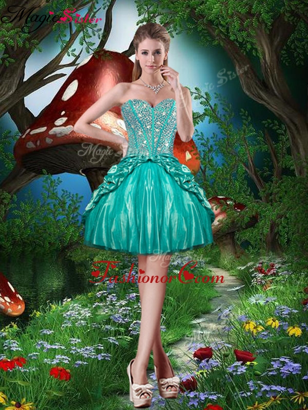 Pretty Sweetheart Beading Mini Length Prom Dresses for Cocktail QDDTA80003FOR
