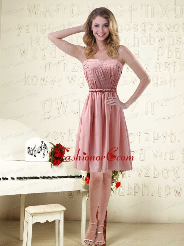 Sassy Sweetheart Ruched Prom Dresses in Chiffon with Waistband ...