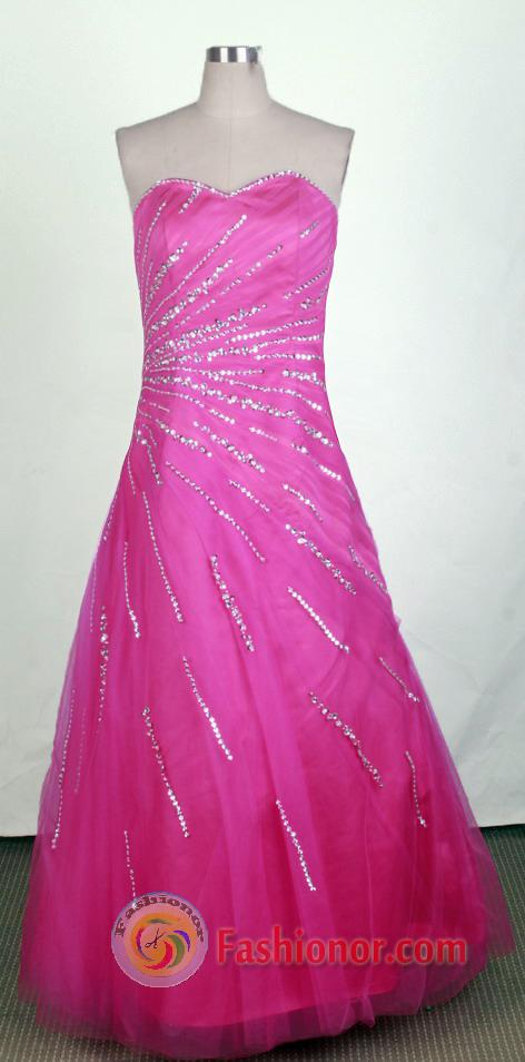 Pretty A-line Sweetheart Floor-length Hot Pink Prom Dress LHJ42851 ...