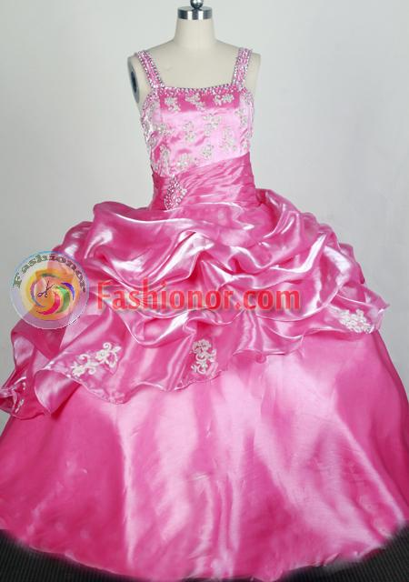 2012 Lovely Ball Gown Strap Floor-length Flower Girl Dress Style RFGDC099