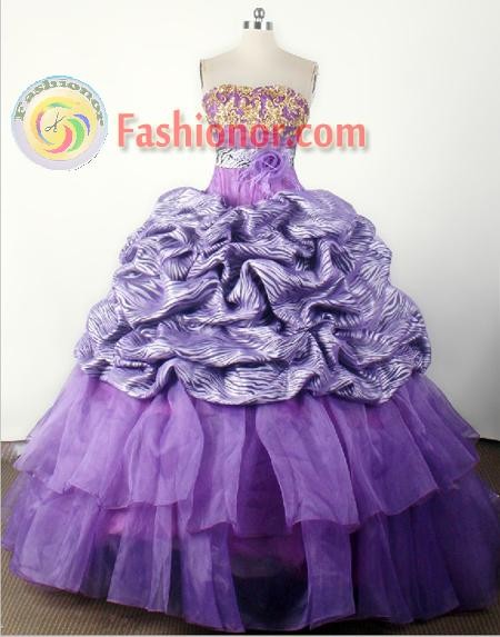2012 Modest Ball Gown Strapless Floor-length Flower Girl Dress Style RFGDC043