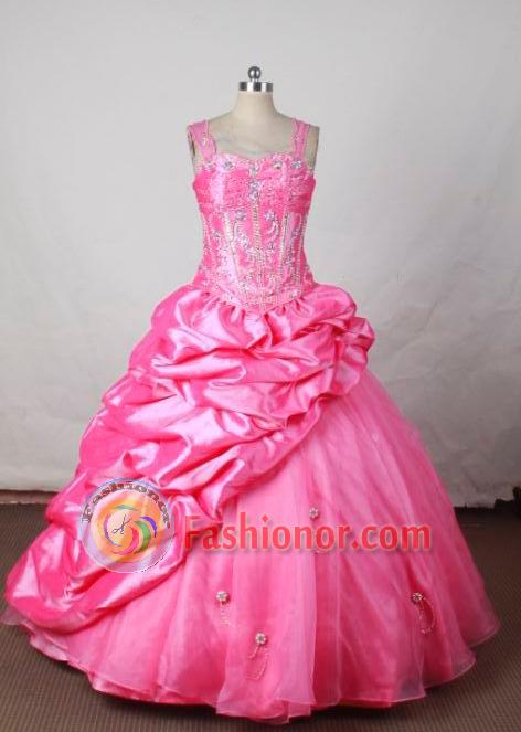 Sweet BallGown Straps Floor-Length Hot Pink Flower Girl Dresses ...