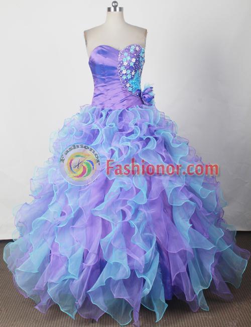 Amazing Ball Gown Sweetheart Neck Floor-length Quinceanera Dress ...