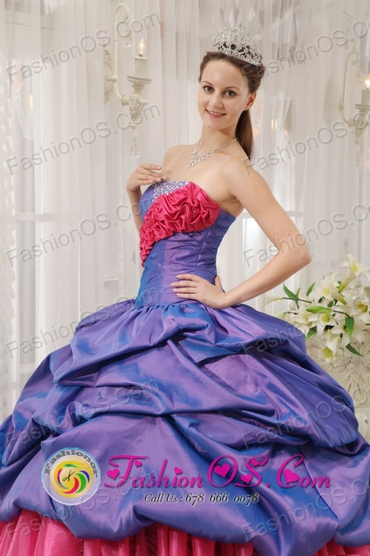 Mexicali Mexico Colorful Exclusive Quinceanera Dress With purple ...