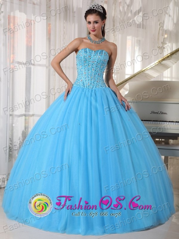 Pirque Chile For Sweet 16 Sky Blue Sweetheart Beaded Decorate ...