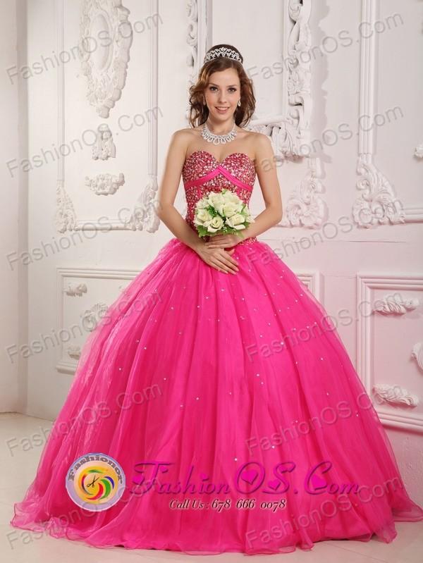Pink Princess Dresses For Quinceaneras