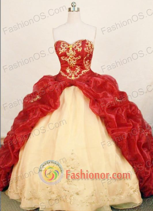 Gorgeous ball gown sweetheart-neck chapel organza beading ...