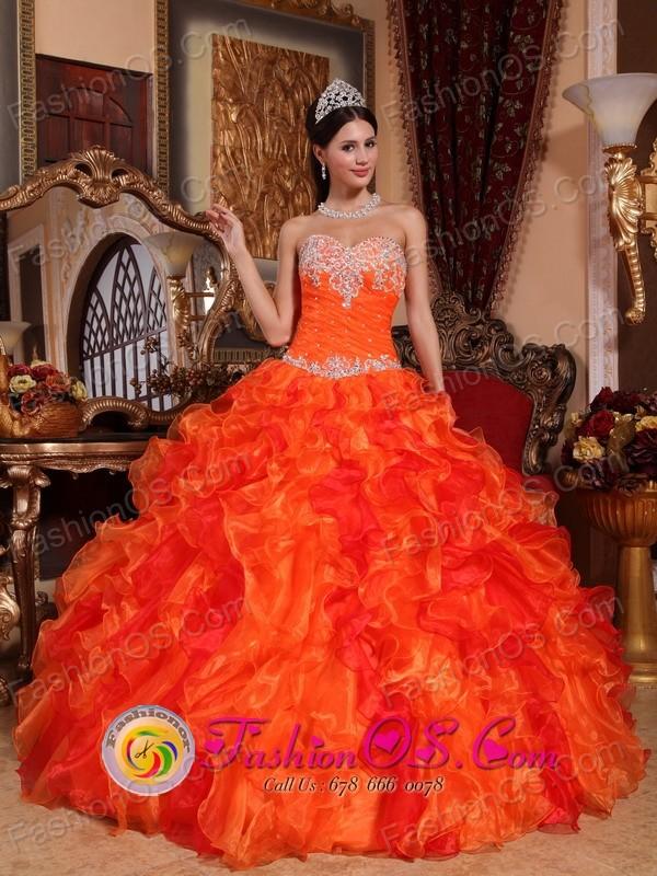 Orange Sweetheart Dress