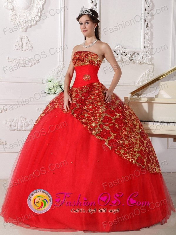 Cheap Red Sweet 16 Dresses