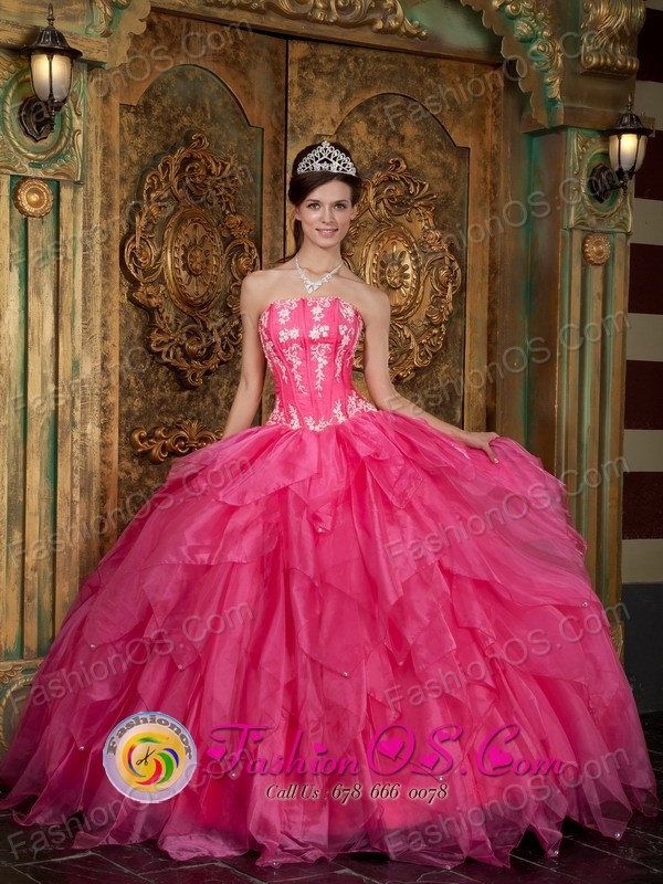 Hot Pink 2013 Pensilvania Colombia Quinceanera Dress with ...