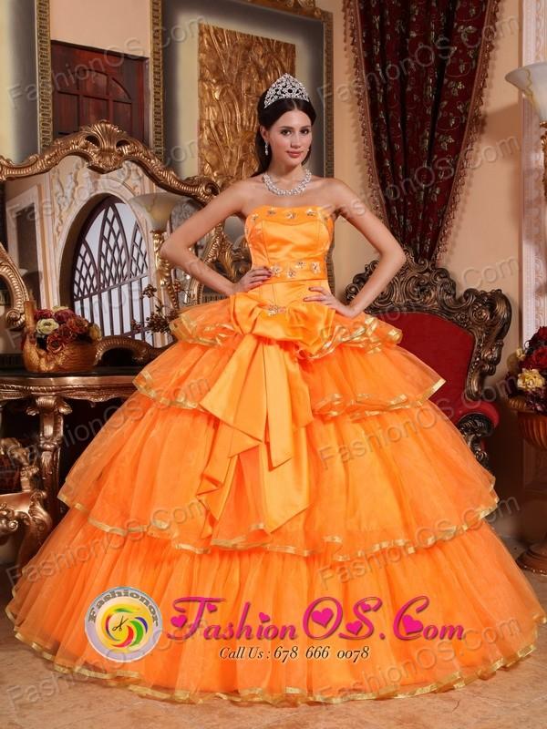 Orange Bow Dresses