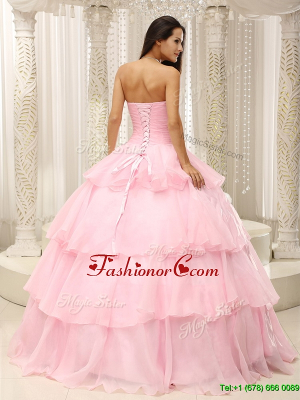 2016 Pretty Beading and Ruffles Sweet 16 Dresses in Baby Pink ...