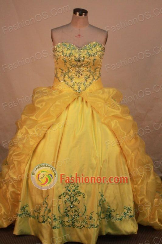 Pretty Ball gown Sweetheart neck Floor-Length Quinceanera Dresses Style FA-Y-68