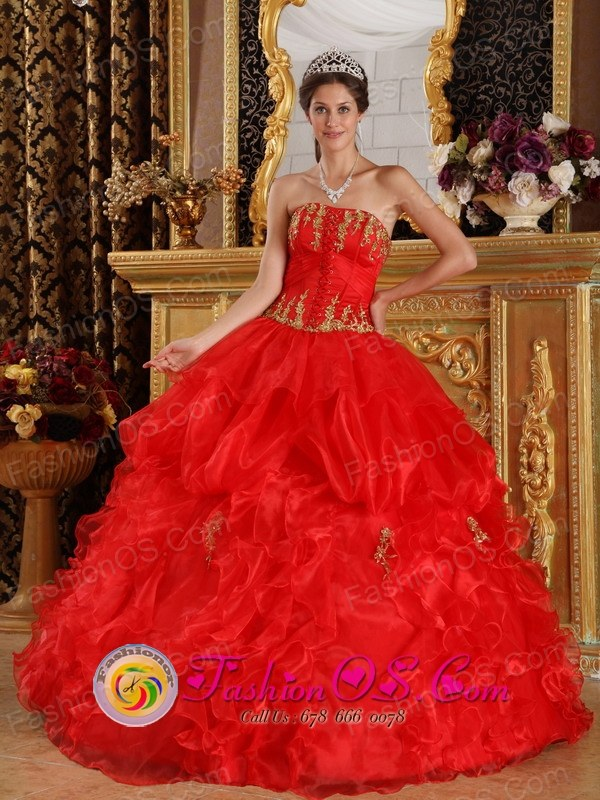 Wholesale Ruffles Wholesale Appliques Corset Decorate Red Organza ...