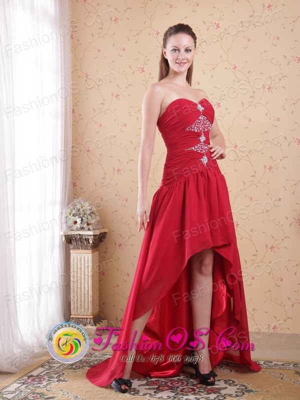 Campbelltown Wholesale NSW Red High-low Chiffon Beading Sexy Dama ...