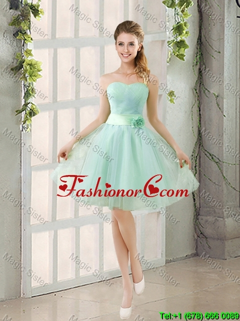 2016 Summer A Line Strapless Ruching Dama Dresses in Tulle BMT014B-5FOR