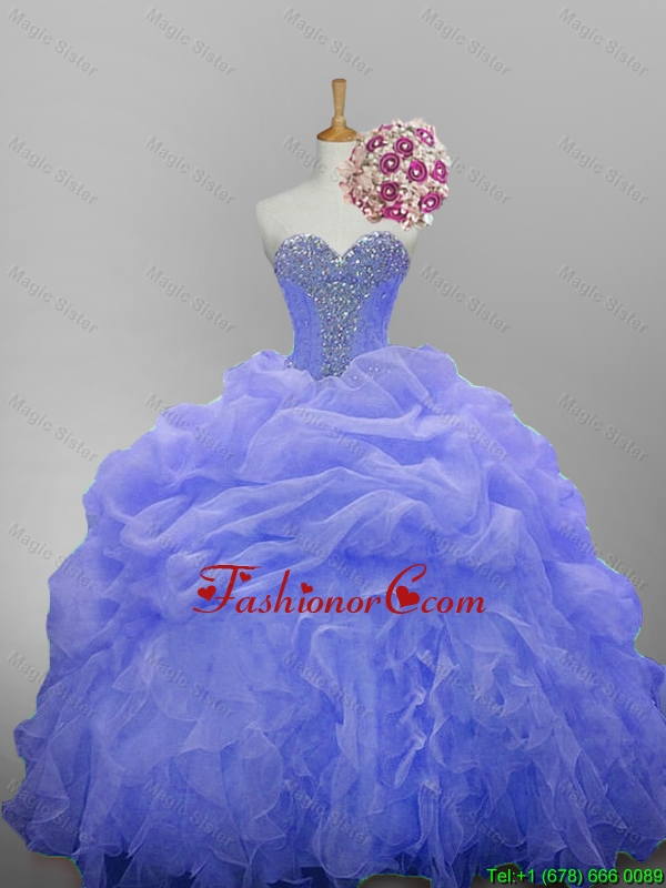 Luxurious 2016 Summer Sweetheart Quinceanera Dresses with Beading and Ruffled Layers SWQD014-11FOR