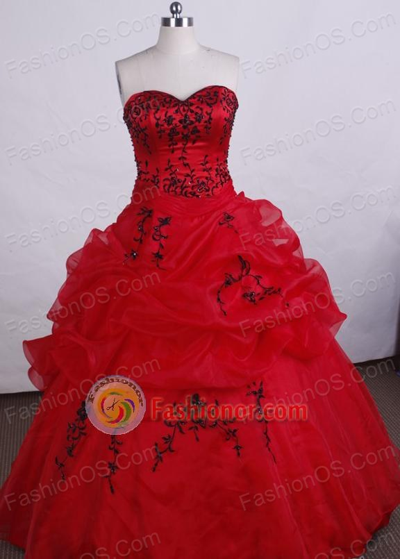 Discout Ball gown Sweetheart-neck Floor-length Quinceanera Dresses Style FA-C-060