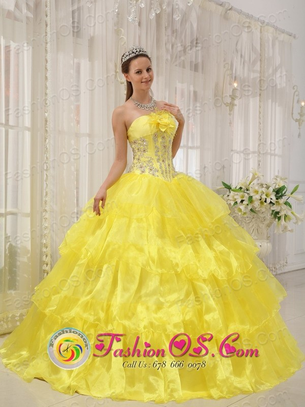 Yellow Sweet Quinceanera Ball Gown Dress For 2013 Cofradia Honduras ...