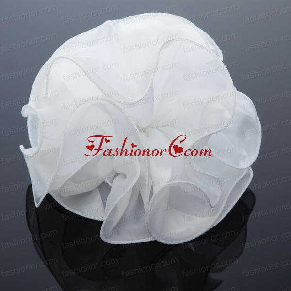 2014 Simple Organza White Summer Fascinators ACCHP066FOR