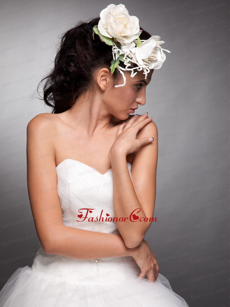Pretty Headpieces Taffeta Hand Made Flowers JDZH016FOR