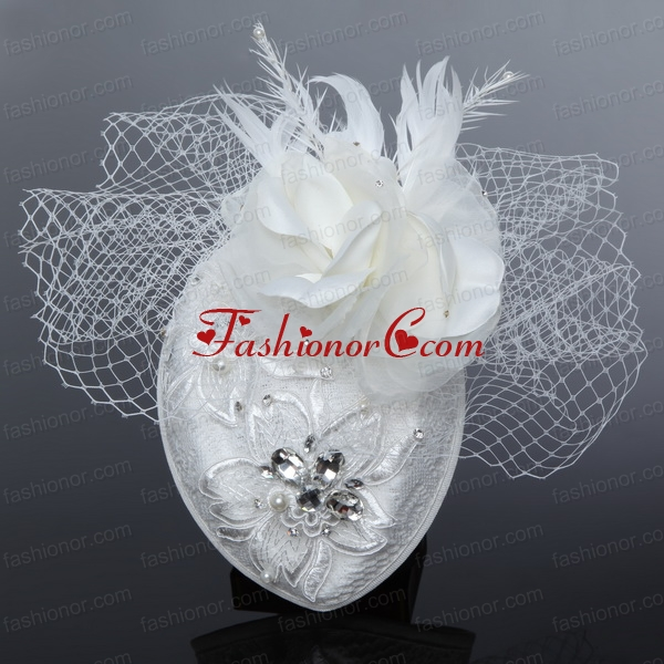 White 2014 Lovely Rhinestone Feather Hat Hair Ornament ACCHP061FOR