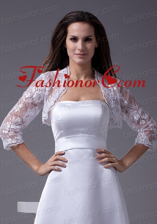 Elegant  White Jacket With Lace ACCJA061FOR