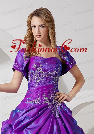 Unique and Affordable Open Front Quinceanera Jacket in Purple For 2015 ACCJA051FOR