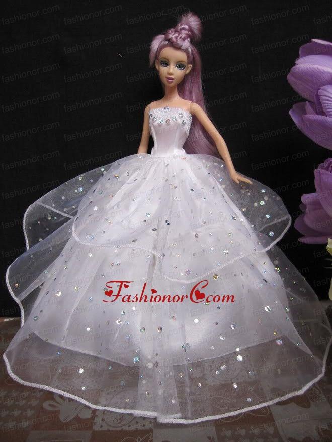 Как сшить кукле свадебное платье барби