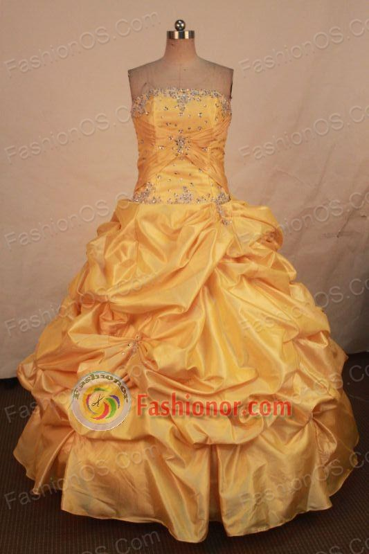 Cheap Ball gown Strapless Floor-length Quinceanera Dresses Style FA-W-311