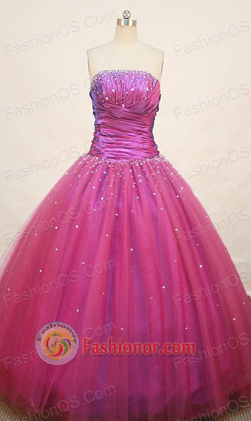 Cute Ball gown Strapless Floor-length Quinceanera Dresses Style FA-W ...