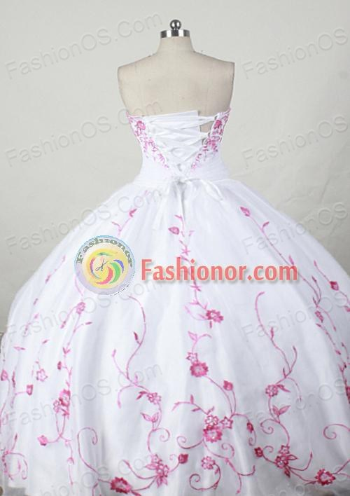 Exclusive Ball gown Strapless Floor-length Quinceanera Dresses Style FA-W-244