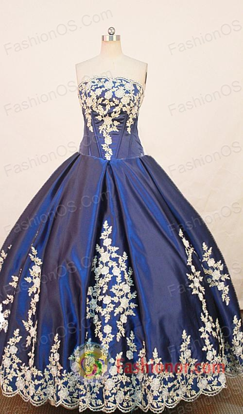 Popular Ball gown Strapless Floor-length Quinceanera Dresses Style FA-W-263