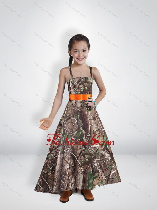 9afb203c70b Comfortable Princess Straps Camo Flower Girl Dresses with Belt CMLD007FOR