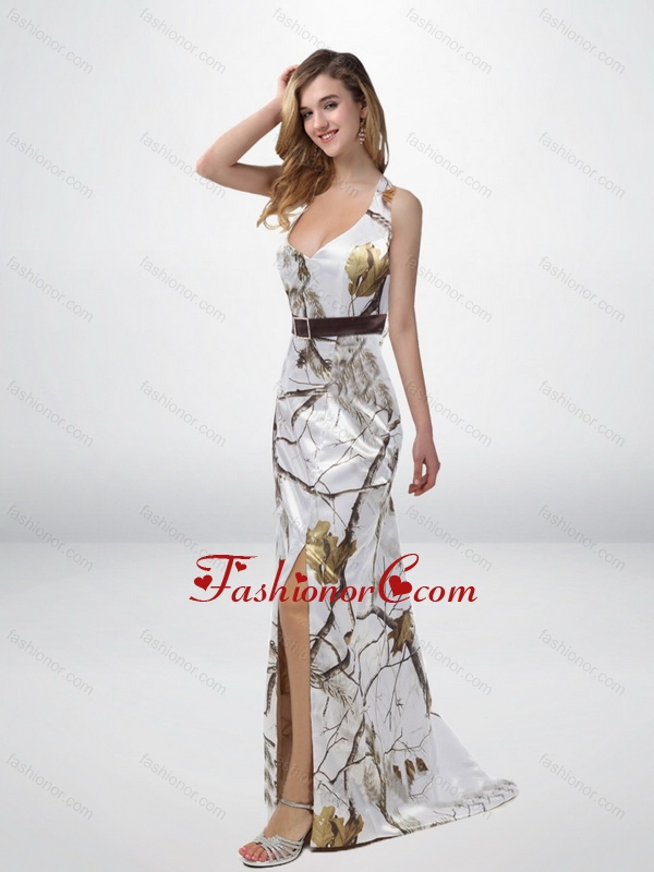 Classical Column Halter Top Camo Prom Dresses with Sashes CMPD029FOR ...