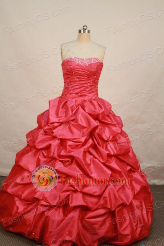 Low price Ball gown Strapless Floor-length Quinceanera Dresses Style ...